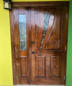 Front door entrance is 4  feet wide