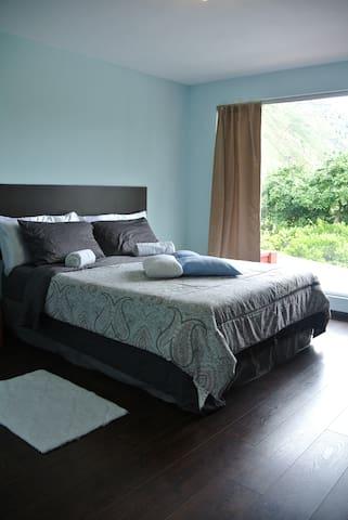 Second Floor. Blue bedroom.