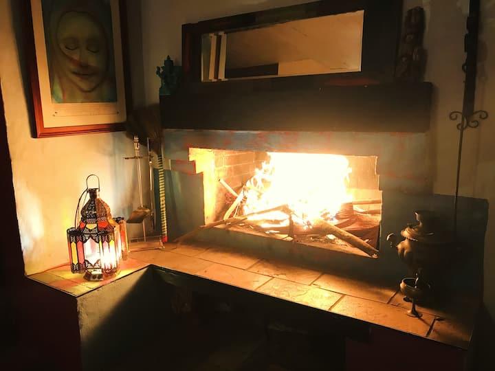 Arcadia Creativity Retreat - Big Fire Place