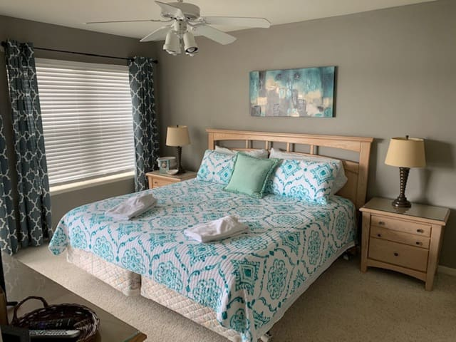 Master suite on the main level.