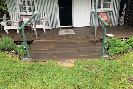 Ramp and rail to verandah