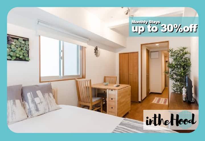 Convenient & Comfy Biz Friendly Shinjuku Home
