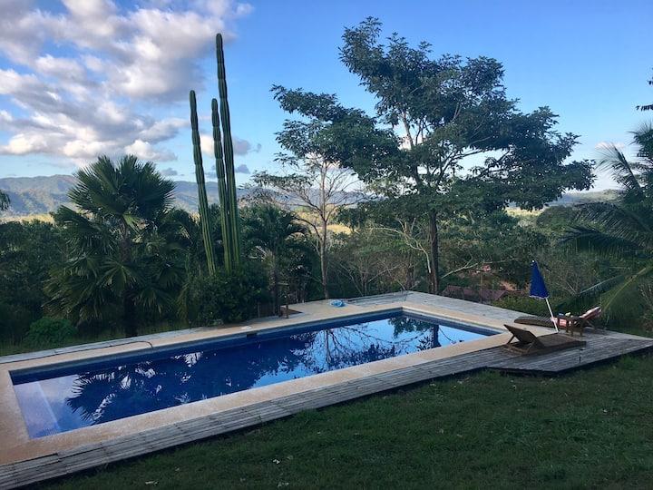 Private swimming pool at Villa Chez OIM