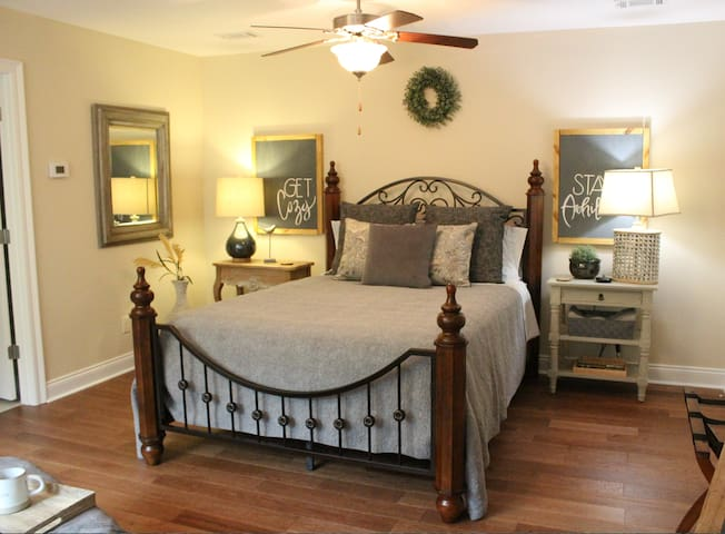 Our retreat room is a cozy place for a weekend getaway!