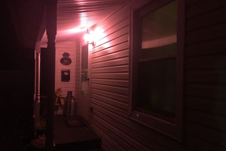 Night time on my front porch.