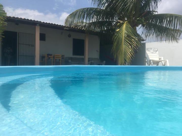 Casa de Praia Ampla com Piscina, Praia do Abaís