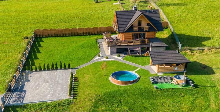 Dom willa deLuxe sauna,jacuzzi Nowy Targ Zakopane