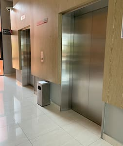The pathway and lift wide enough