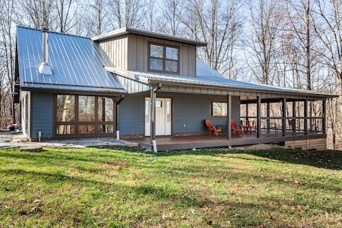 Bloomington Lake-View maison sur 40 acres isolés