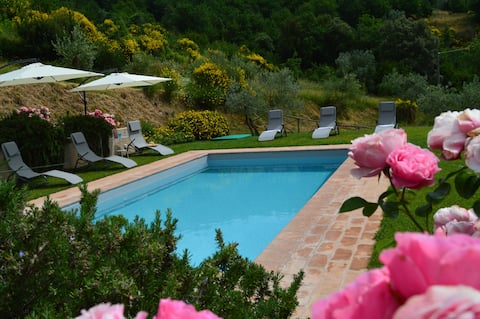 Villa Chianti ar privātu baseinu. 6 līdz 8 viesi