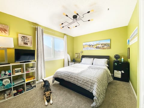 Cozy front range home with great views and dogs!