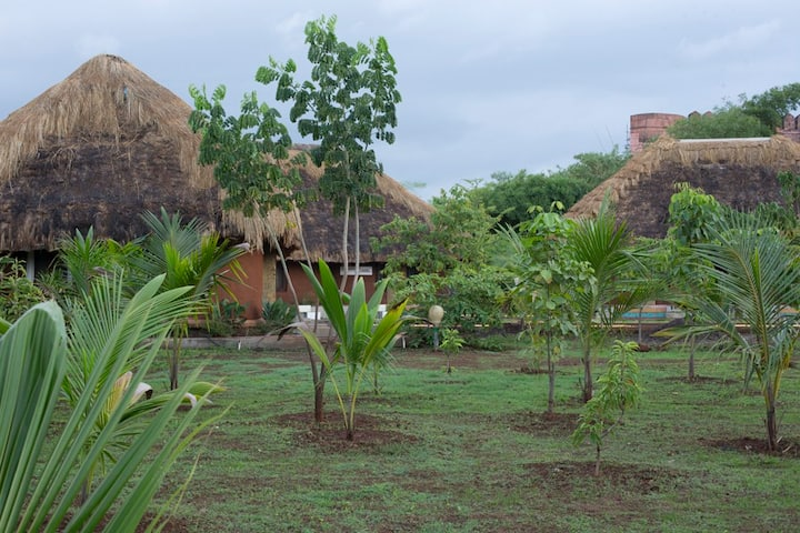 Cottage with two Rooms at Art Village Karjat