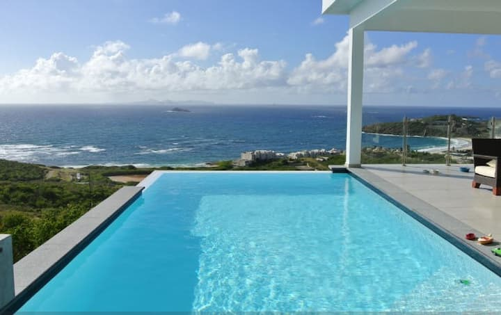 Spectacular View on Ocean & St Barth Island