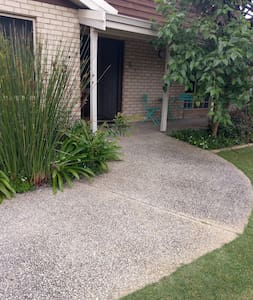 6 foot wide flat pathway from car to front door