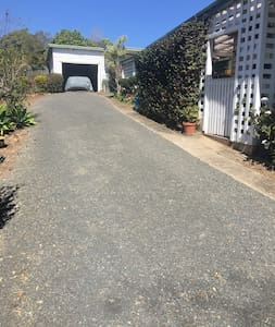 Car parking on wide driveway