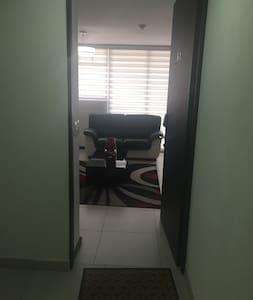Puerta principal. Ingreso al apartamento