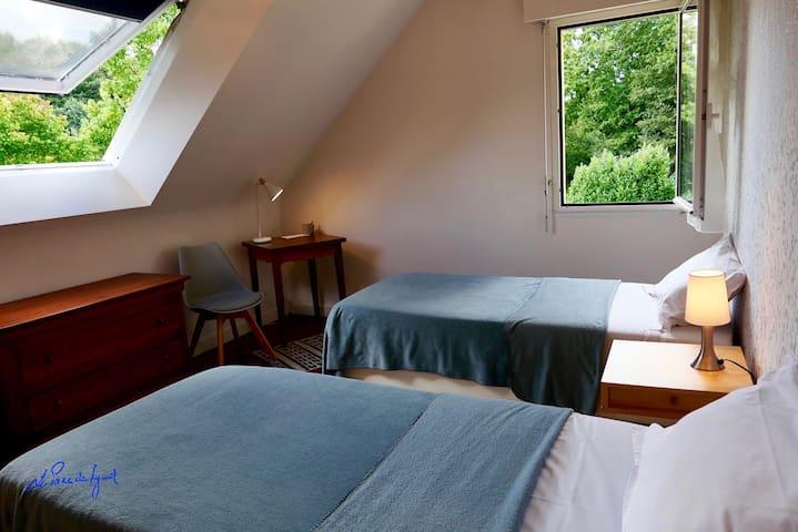 Suite familiale - 2ème chambre avec deux lits