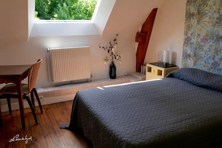 Suite familiale - 1ère chambre avec un lit double