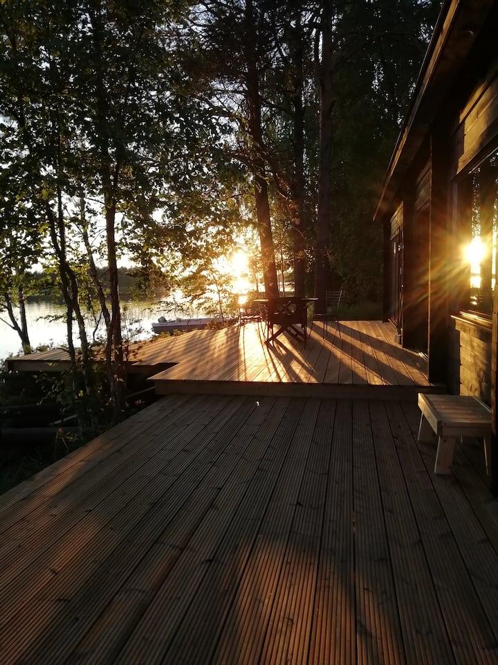 Big House by the Lake Keitele, Lakeside Sauna etc.