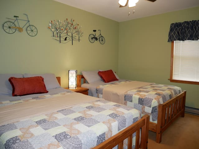 our guest (2nd) bedroom has two double beds