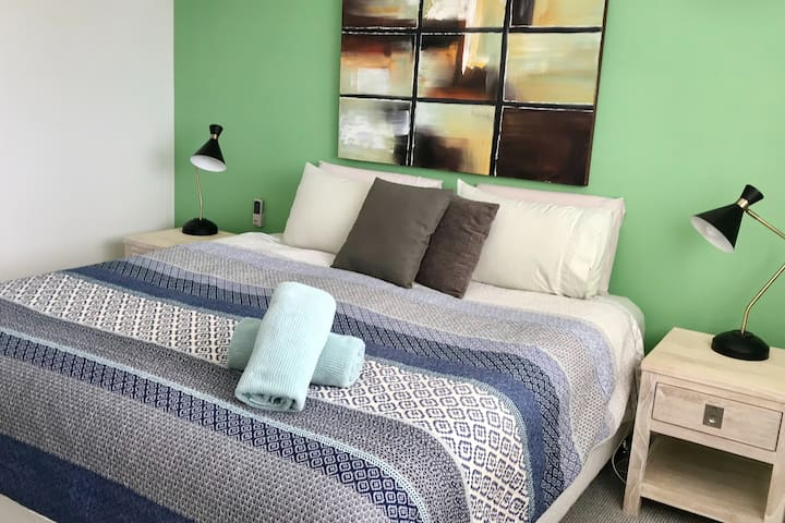 Main Bedroom - First floor. King bed. Ensuite & WIR