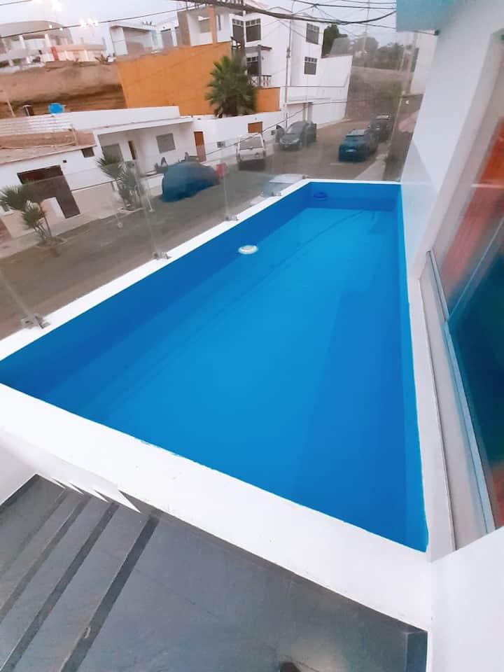 Pool apartment Punta Hermosa Beach - 4 bedrooms