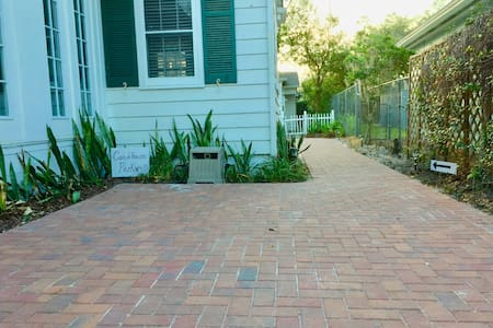 5 ft wide pathway back to the couch house — no steps!