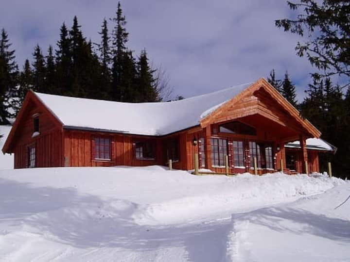 Large Cottage 2 Baths Sauna Jacuzzi in Sjusjøen
