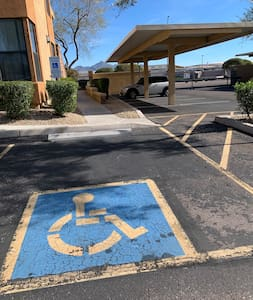 Accessible parking right in front of condo