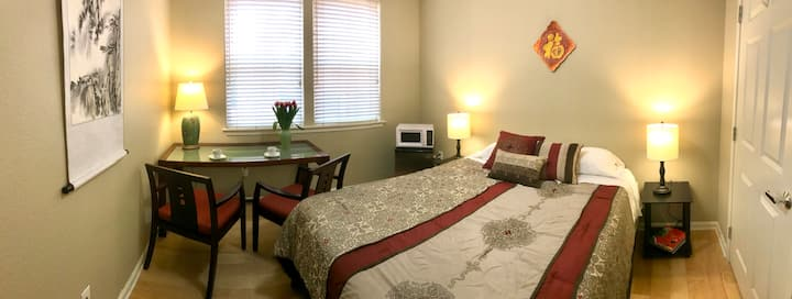 Your Temporary Home in Silicon Valley (Beige Room)