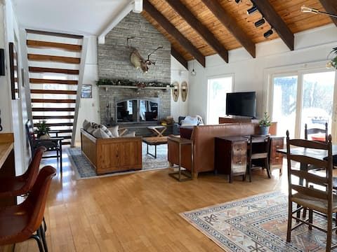 Mid-Century Ski Chalet with Huge Fireplace