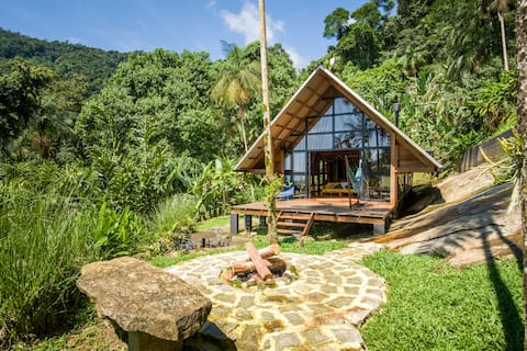 Design Cabin in Rainforest with Private Waterfall