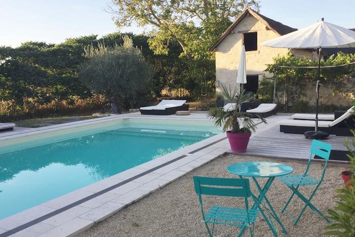 Beautiful house, pool, donkeys, Loire Valley