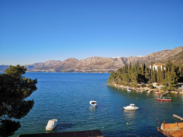 Apt 10m from beach, near Dubrovnik