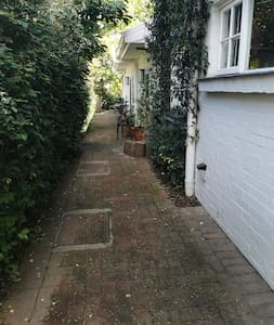 Flat path with slight slope.