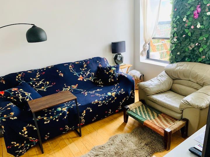 Amazing Room w/ Fire Escape & Premium TV