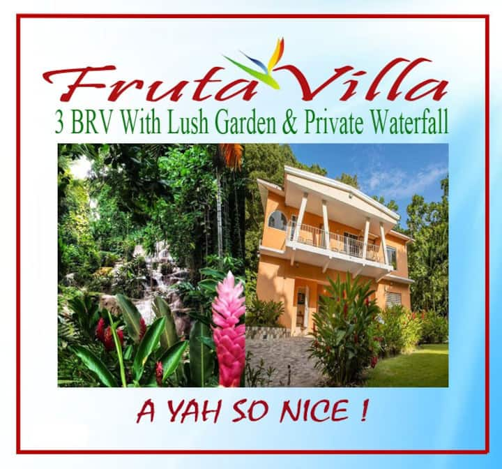 Fruta Villa with Lush Gardens & Private Waterfall
