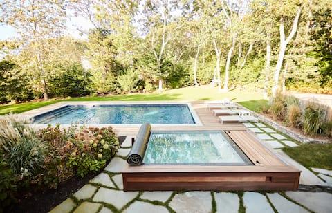 Nowoczesny wypoczynek w basenie/spa + doskonały widok na wodę