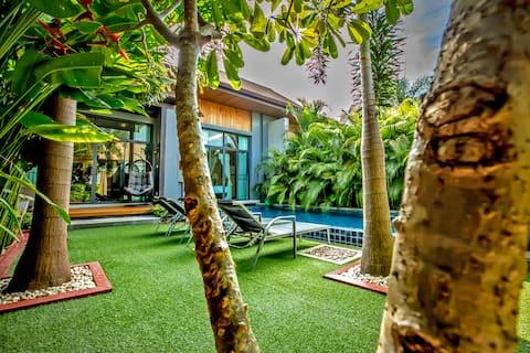 Exclusiva villa tropical con piscina privada de dos dormitorios
