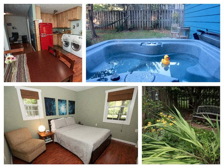 Serenity Cottage w/HOT TUB & Courtyard, 1 mi<BRPW