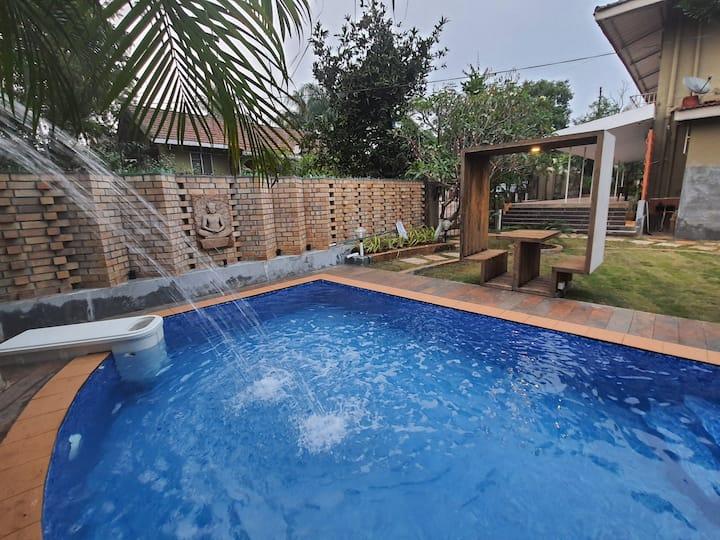 Atrio Villa(2BHK) Pool Villa and landscaped Garden