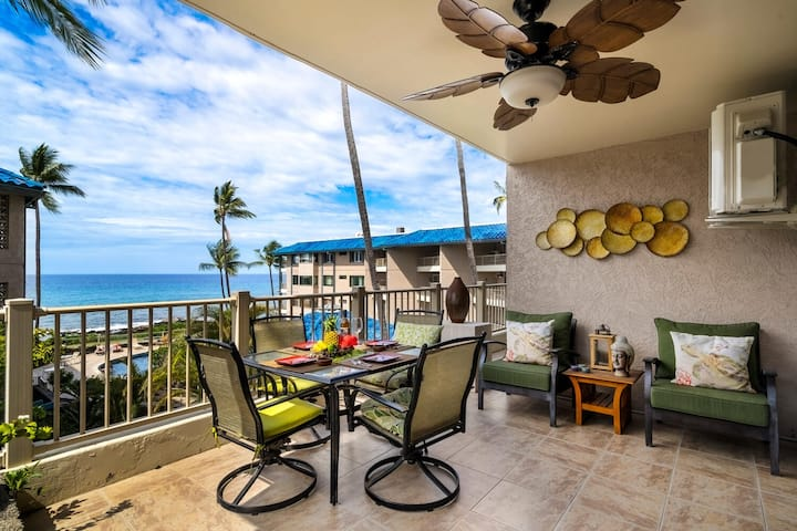 Stunning Kona Reef Direct Ocean View and Full AC!