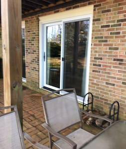 Entry slider door approximately 36 inches wide.