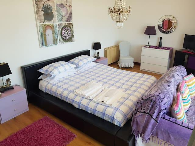Double bedroom in family suite