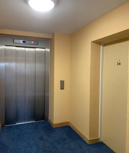 Lift and entrance to the apartment door