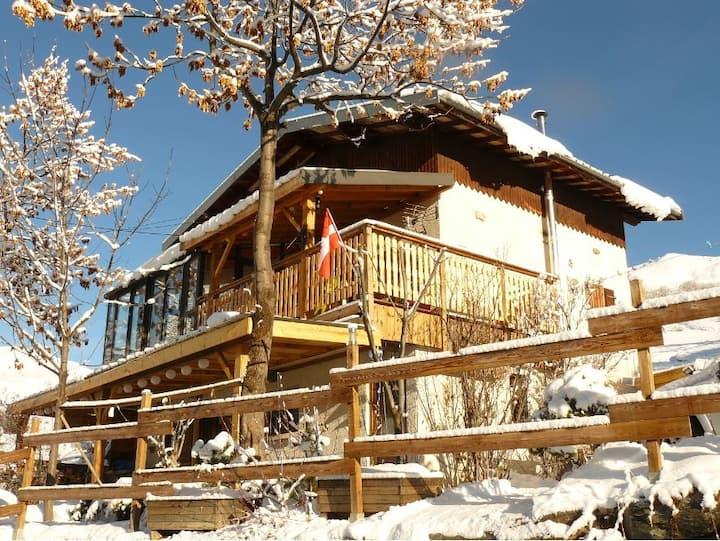 Chalet ** 10p. skispieds 115m² sauna, terr+veranda