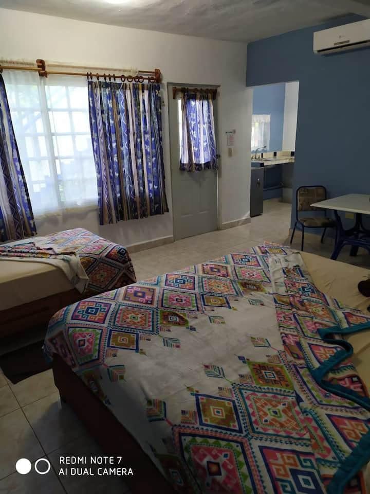 Hotel Las Palapas de punta allen habitación # 2