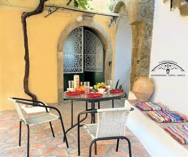 Traditional house at kouramades ,Corfu