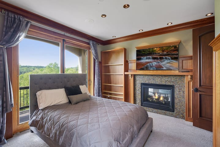 Main Level - Office converted to QUEEN BED - full bathroom outside door