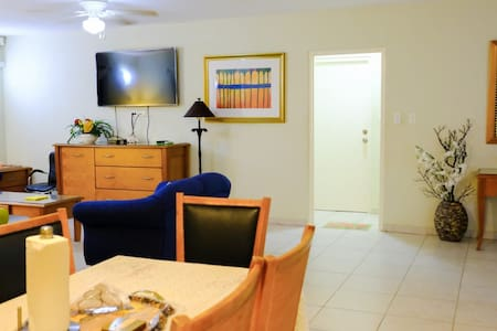 Living room and dining room and hallway
